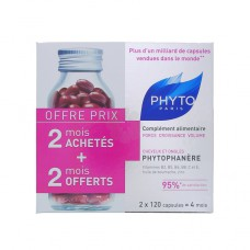 PHYTOPHANERE FORCE CROISSANCE VOLUME COMPLEMENT ALIMENTAIRE PHYTO 120 CAPSULES X 2