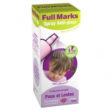 FULL MARKS Spray antipoux et lentes Fl/150ml+peigne