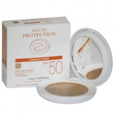AVENE SOLAIRE SPF50+ Cr compact haute protection teinté doré Boîtier/10g