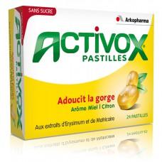 ACTIVOX sans sucre Past miel citron B/24