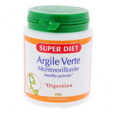 SUPER DIET ARGILE VERTE MONTMORILLONITE MENTHE POIVREE 250 COMPRIMES
