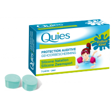 QUIES Protection auditive silicone spécial natation enfant B/3paires