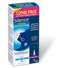 SILENCE COMBI PACK S bucc et nasale anti-ronflement Spray/50ml+Fl pulv/15ml