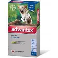 ADVANTIX S ext grand chien 25-40kg 4Pipettes/4ml
