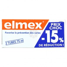 ELMEX DENT PROTECTION CARIES 75ML PACK 2
