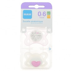 SUCETTES MAM ANATOMIQUES SILICONE 0-6 MOIS x 2