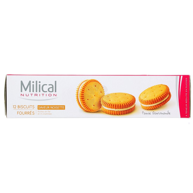 MILICAL NUTRITION BISCUITS FOURRES NOISETTE x 12