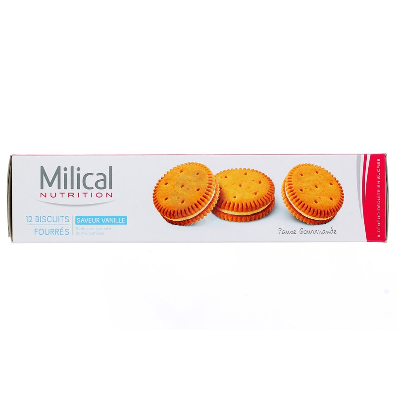 MILICAL BISCUITS FOURREES VANILLE x 12