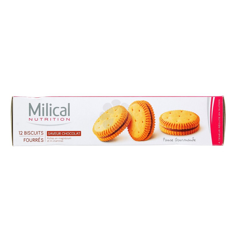 MILICAL NUTRITION BISCUITS FOURRES CHOCOLAT x 12