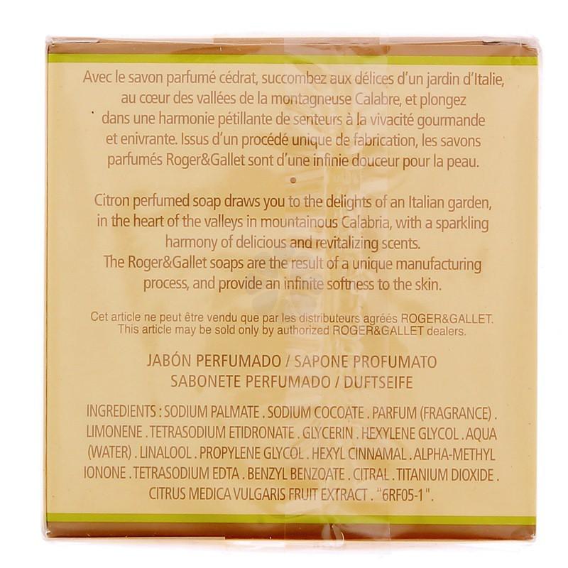 SAVON PARFUME CEDRAT ROGER & GALLET 100G