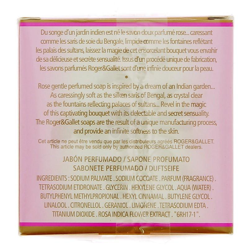 SAVON PARFUME ROSE ROGER & GALLET 100G