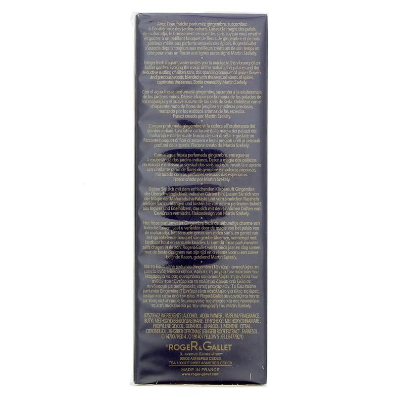 EAU FRAICHE PARFUMEE GINGEMBRE ROGER & GALLET 100ML