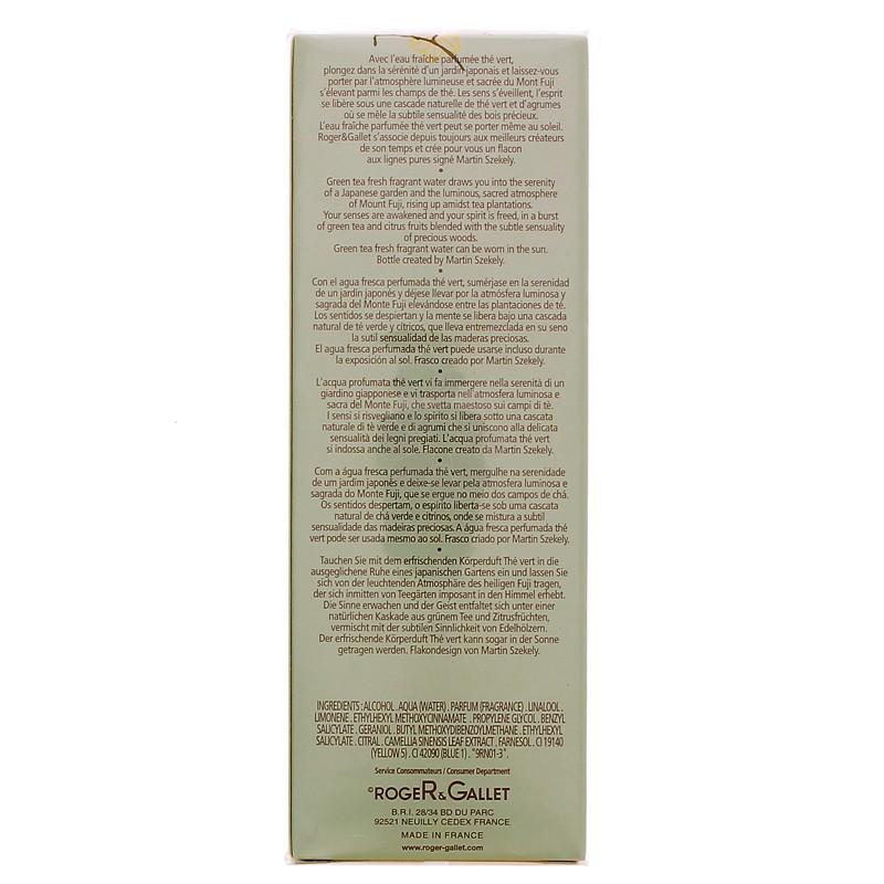 EAU FRAICHE PARFUMEE THE VERT ROGER & GALLET 100ML