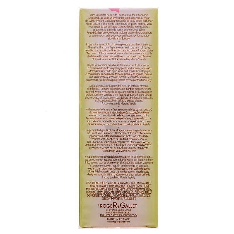 EAU FRAICHE PARFUMEE SHISO ROGER & GALLET 100ML