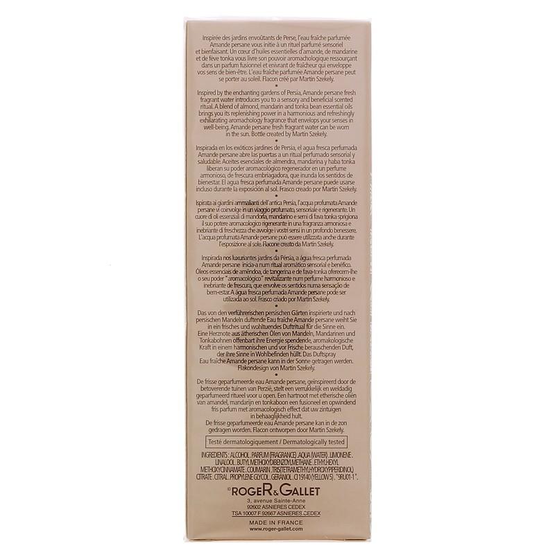 EAU FRAICHE PARFUMEE AMANDE PERSANE ROGER & GALLET 100ML