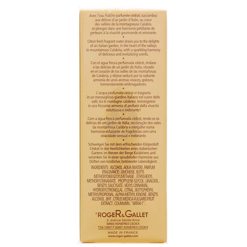 EAU FRAICHE PARFUMEE CEDRAT ROGER & GALLET 30ML