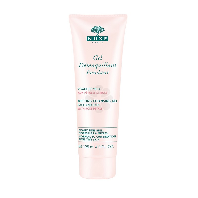 GEL DEMAQUILLANT FONDANT PETALES DE ROSE NUXE 125ML