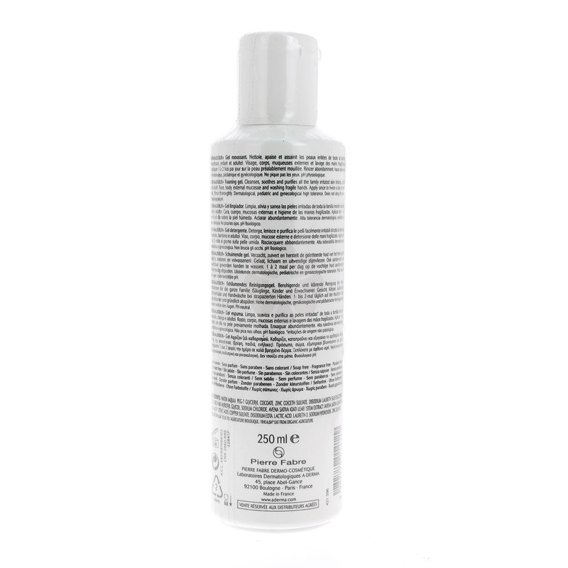 DERMALIBOUR+ GEL MOUSSANT A-DERMA 250ML