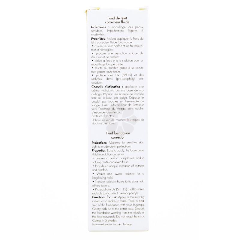 COUVRANCE FOND DE TEINT CORRECTEUR FLUIDE PORCELAINE AVENE 30ML