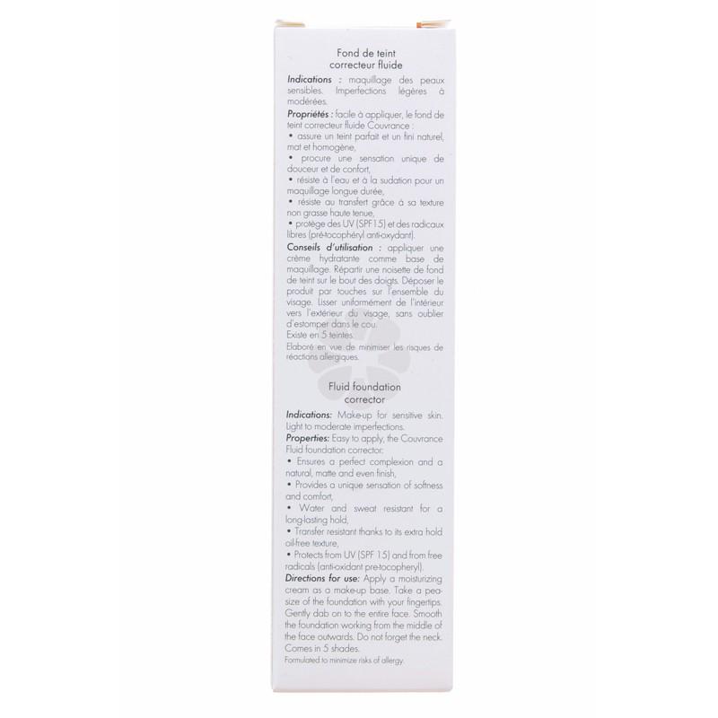 COUVRANCE FOND DE TEINT CORRECTEUR FLUIDE MIEL AVENE 30ML