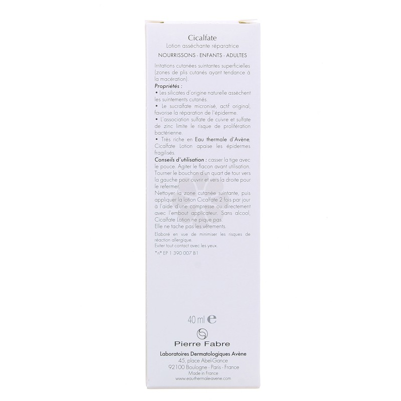 CICALFATE LOTION ASSECHANTE REPARATRICE AVENE 40ML
