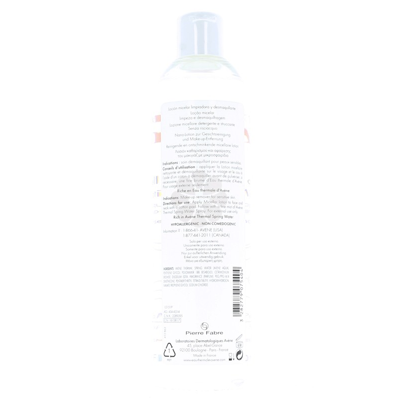 LOTION MICELLAIRE AVENE 400 ML
