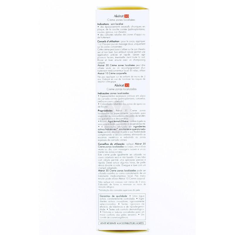 AKERAT 30 CREME ZONES LOCALISEES AVENE 100ML