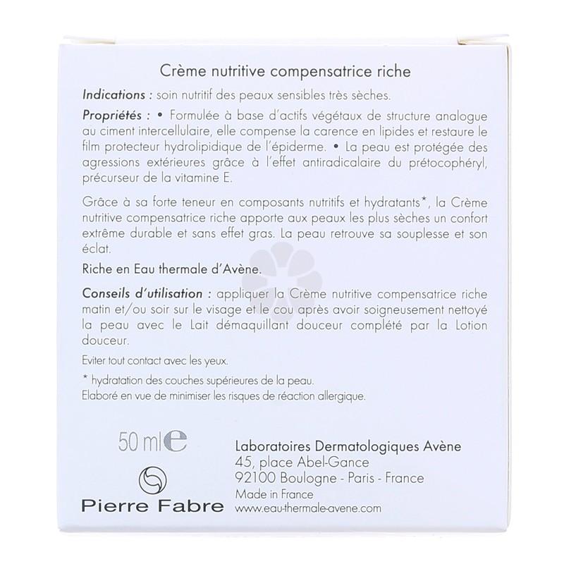 CREME NUTRITIVE COMPENSATRICE RICHE AVENE 50ML