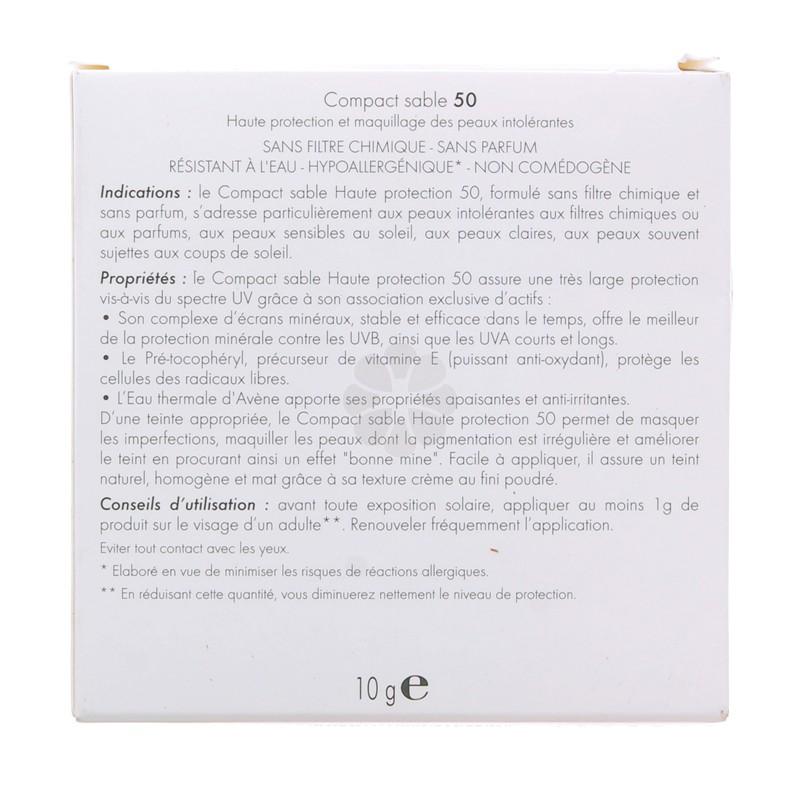 COMPACT TEINTE SPF50 SABLE AVENE 10G