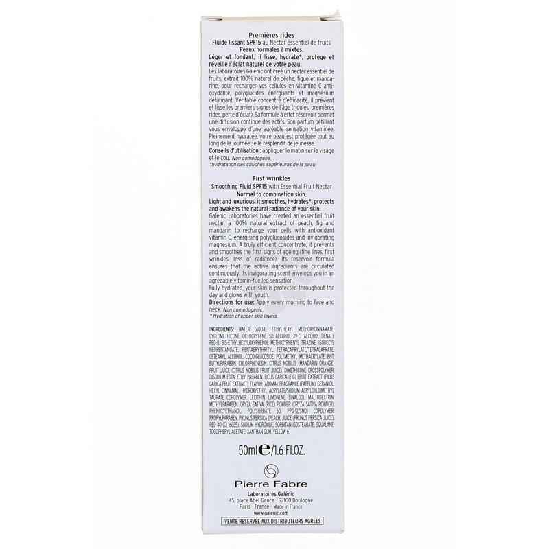 NECTALYS FLUIDE LISSANT SPF15 GALENIC 50ML