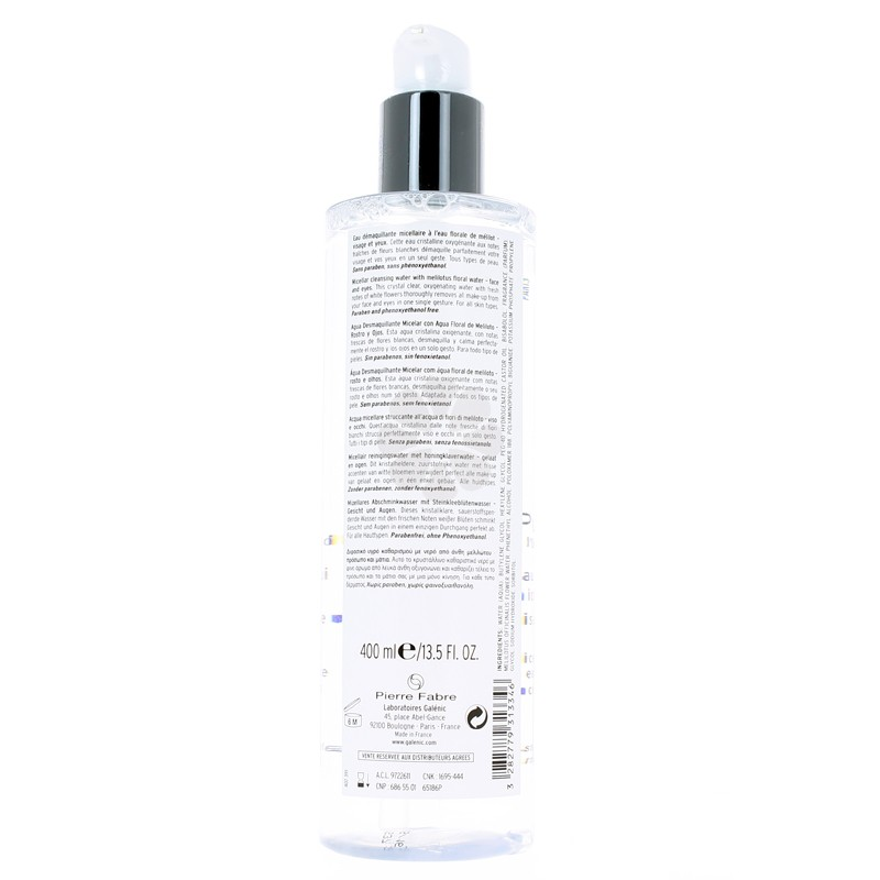PUR EAU DEMAQUILLANTE MICELLAIRE GALENIC 400ML