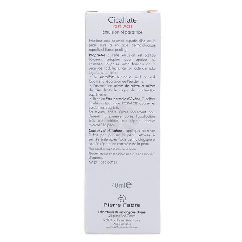 CICALFATE EMULSION REPARATRICE POST-ACTE AVENE 40ML