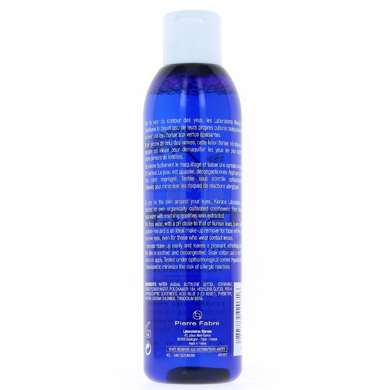 LOTION FLORALE DEMAQUILLANTE AU BLEUET KLORANE 200ML
