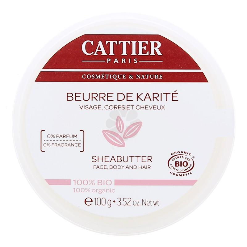 BEURRE DE KARITE 100% BIO CATTIER 100G NATUREL