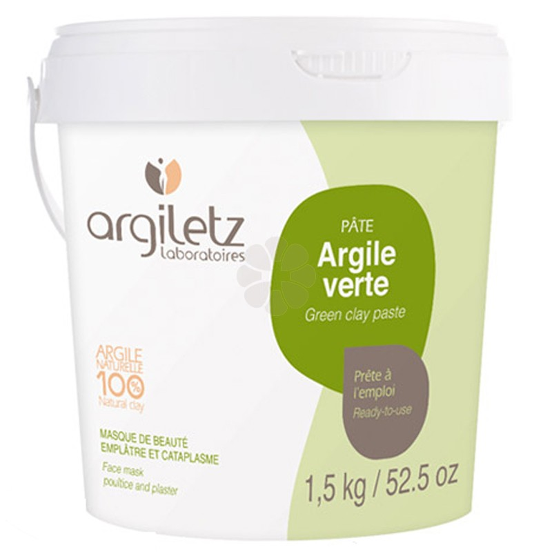 PATE ARGILE VERTE PRETE A L'EMPLOI ARGILETZ 1,5KG