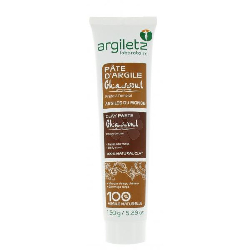 PATE ARGILE GHASSOUL PRETE A L'EMPLOI ARGILETZ 100ML