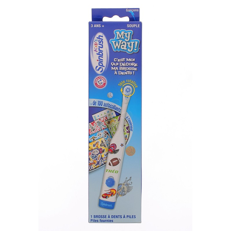 KID'S SPINBRUSH MY WAY BROSSE A DENTS ELECTRIQUE BLEU