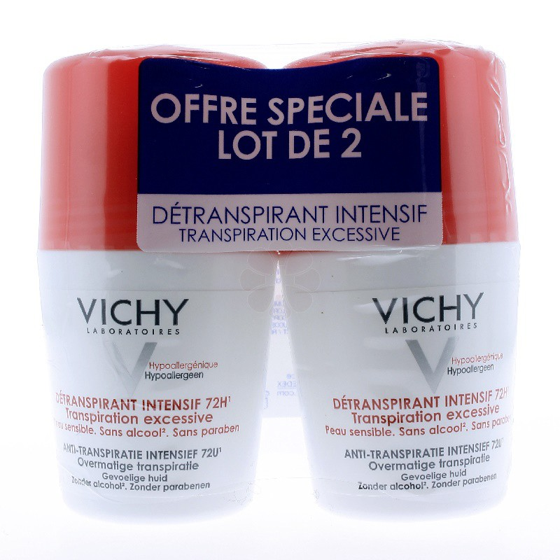 DEODORANT DETRANSPIRANT INTENSIF ROLL-ON VICHY 50MLx2