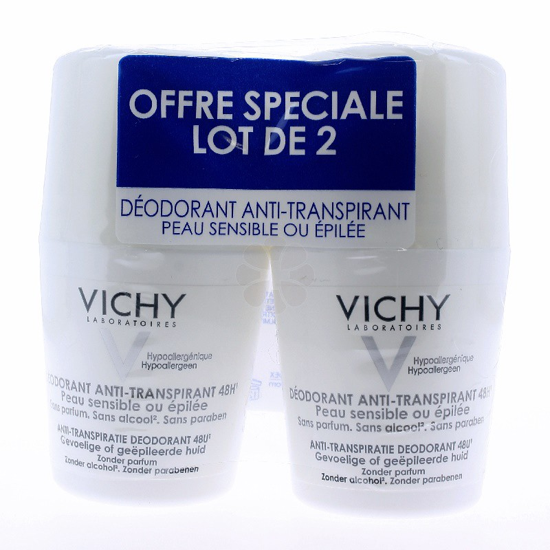 DEODORANT ANTI-TRANSPIRANT 48H ROLL-ON VICHY 50MLx2