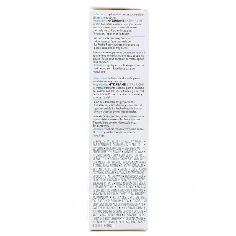 HYDREANE EXTRA RICHE CREME HYDRATANTE LA ROCHE-POSAY 40ML