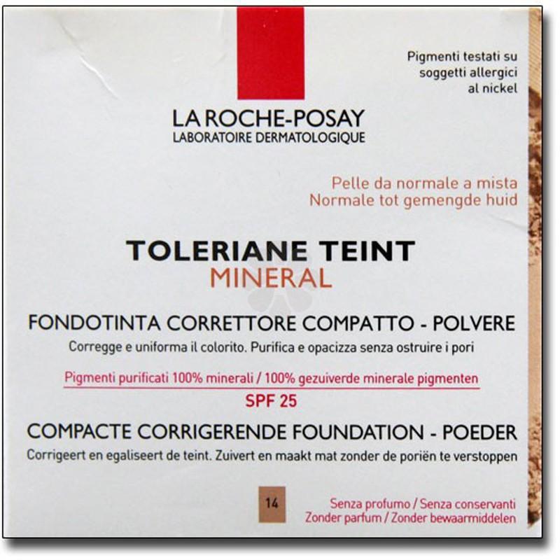 TOLERIANE TEINT MINERAL CORRECTEUR DE TEINT COMPACT-POUDRE 14 BEIGE ROSE LA ROCHE-POSAY 9,5G