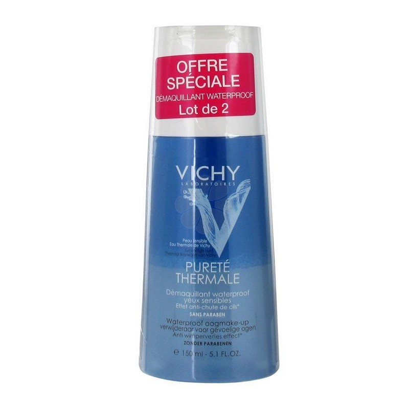 PURETE THERMALE DEMAQUILLANT WATERPROOF YEUX SENSIBLES VICHY 150MLx2