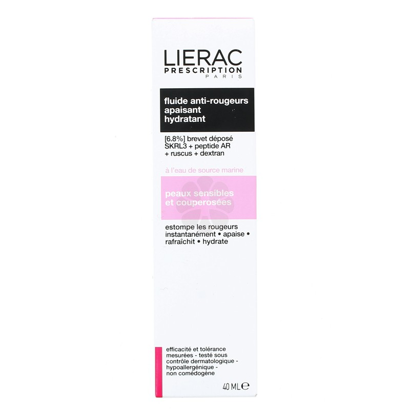 PRESCRIPTION FLUIDE ANTI-ROUGEURS LIERAC 40ML