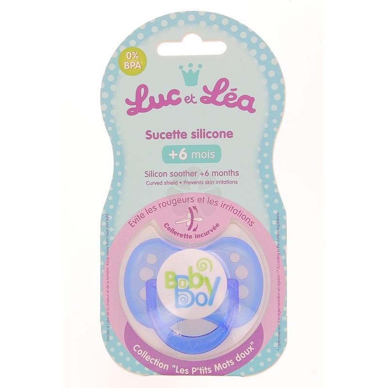 LUC ET LEA SUCETTE SILICONE +6M BABY BOY