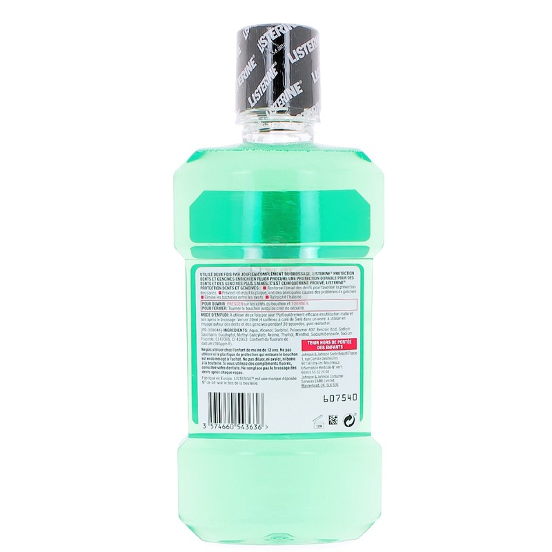 LISTERINE PROTECTION DENTS ET GENCIVES ANTIBACTERIEN 500 ML