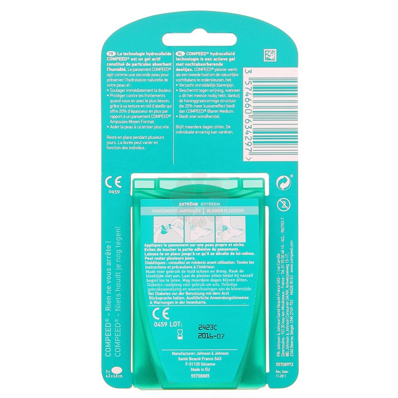 COMPEED PANSEMENTS AMPOULES EXTREME MOYEN FORMAT x 5