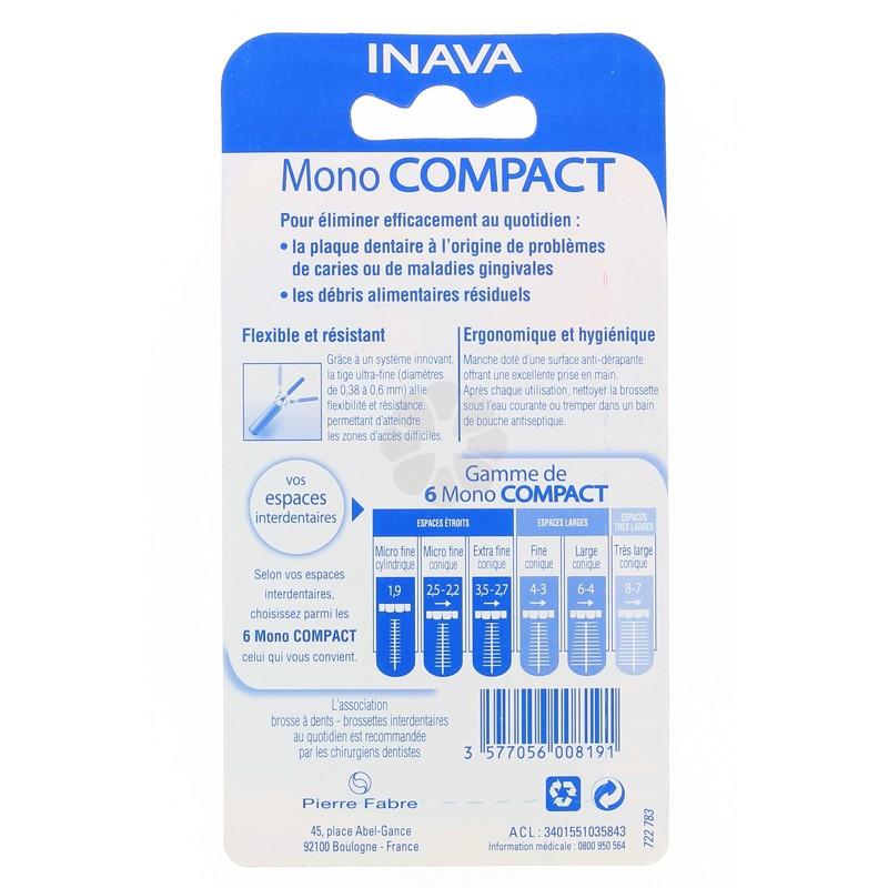 INAVA MONO COMPACT BROSSETTES BLEU 6-4 MM x 4