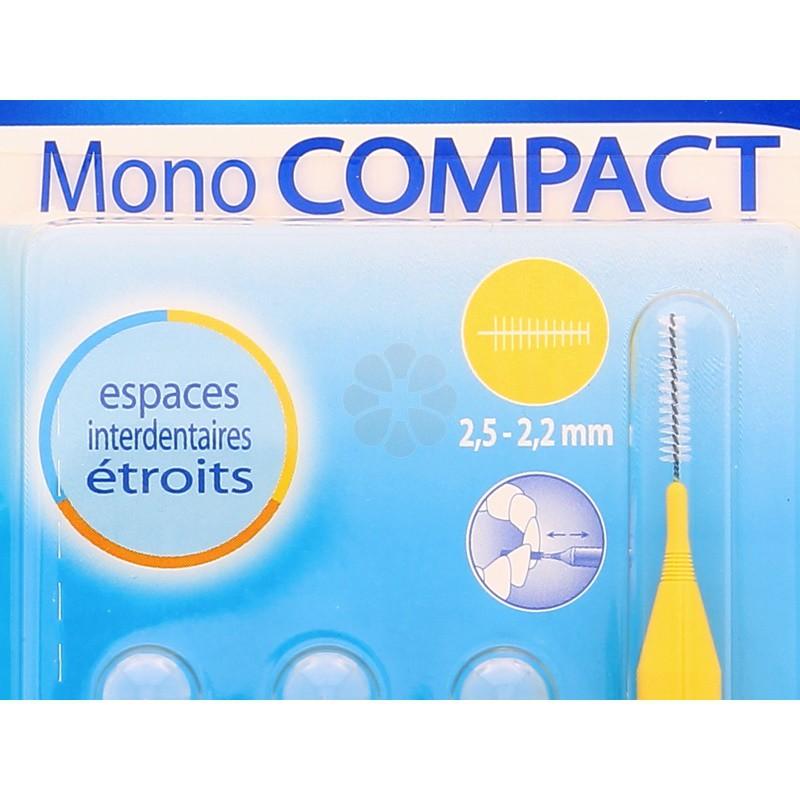 INAVA  MONO COMPACT BROSSETTES JAUNE 2,5-2,2 MM x4
