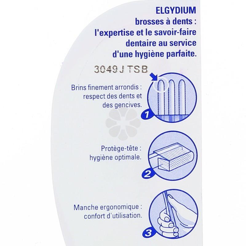 BROSSE A DENTS ELGYDIUM CLASSIC MEDIUM  CAPUCHON