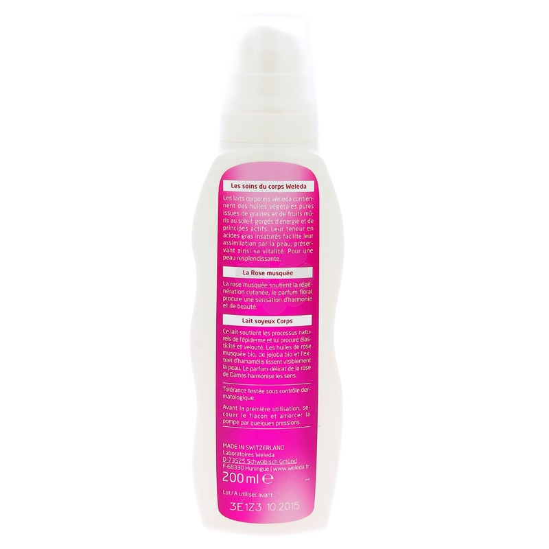 LAIT SOYEUX CORPS ROSE MUSQUEE WELEDA 200ML